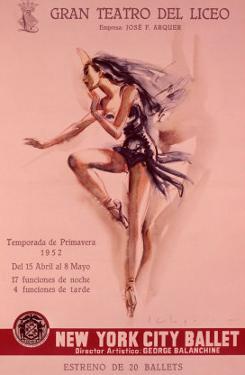 1956 New York City Ballet Poster