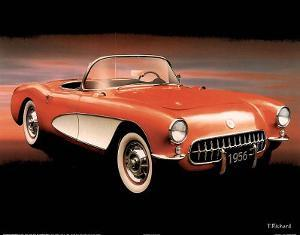 1956 Red Corvette by T Richard