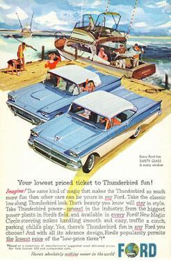 1958 Thunderbird- Price Ticket