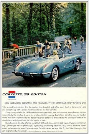 1959 GM Corvette New Sleekness