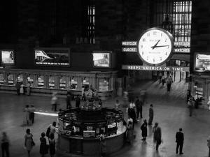 1959 Grand Central Passenger Railroad Station Main Hall Information Booth and Train Ticket