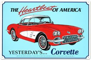 1960 Corvette Tin Sign