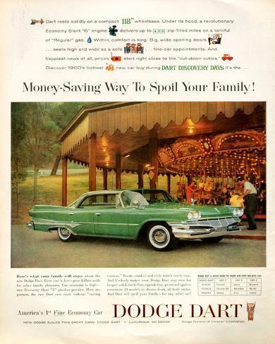 Retro Car Ad 1960 DODGE DART AD Dodge Car Poster Dodge Dart Poster Retro Car