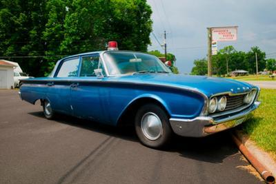 "1960 Ford police car in Mount Airy, North Carolina, the town featured in ""Mayberry RFD"""
