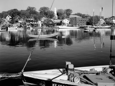 1960s Boats Dock Harbor Maine
