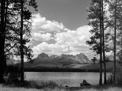 1960s Little Red Fish Lake in Idaho with Saw Tooth Mountains in Background