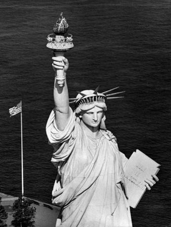 1960s Statue of Liberty Shown from Waist Up