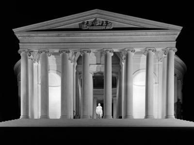 1960s Thomas Jefferson Memorial Lit Up at Night