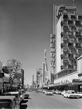 1960s View Down Freemont Street Downtown Las Vegas, Nevada