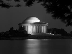 1960s Washington DC Jefferson Memorial at Night