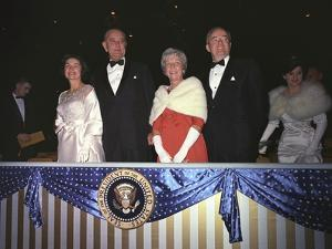 1965 Presidential Inauguration: the Lyndon Johnsons with Muriel and Hubert Humphrey