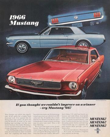 1966 Mustang- Improve a Winner
