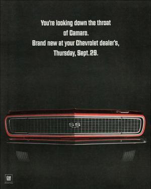 1967 Chevrolet Camaro: Throat