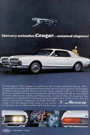 1967 Mercury Unleashes Cougar