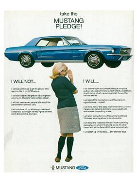 1967 Take the Mustang Pledge