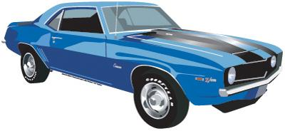 1969 Camaro Die-Cut Tin Sign