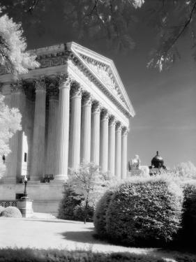 1970s Infrared Photograph Front of Supreme Court Building Washington DC