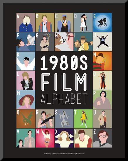 1980s Film Alphabet - A to Z-Stephen Wildish-Mounted Print