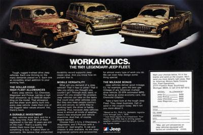 1981 Jeep Fleet-Workaholics