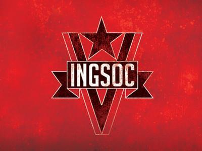 1984 INGSOC Big Brother Political Flag Poster