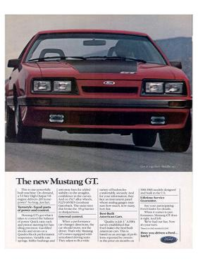 1985 the New Mustang GT