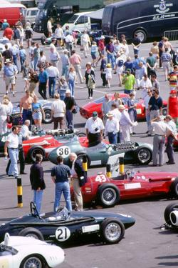 1996 Coys historic festival.Cars in the paddock