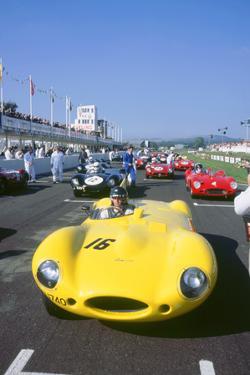 1998 Goodwood revival meeting. Jaguar D type, Martin Brundle