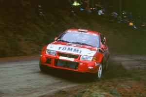 1999 Mitsubishi Lancer EVO, Network Q Rally.Timo Makinen