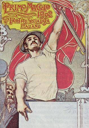 1st May, Poster of the Italian Socialist Party, 1901