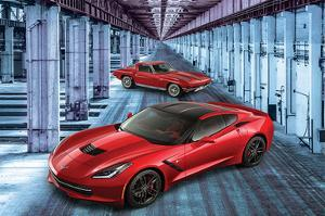 2 Generations of Corvette