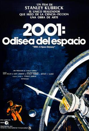 2001: A Space Odyssey, (aka 2001: Una Odisea Del Espacio), Spanish Language Poster, 1968