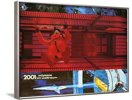 2001: A Space Odyssey, German Movie Poster, 1968--Framed Art Print