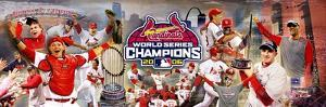 2006 World Series Champion Cardinals Celebration Panoramic Photo