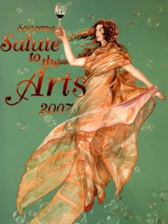 2007 Sonoma Salute to the Arts Art Print Poster