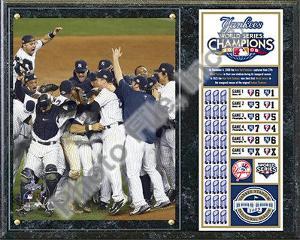2009 New York Yankees World Series Champions Plaque