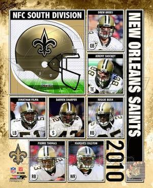 2010 New Orlenas Saints Team Composite