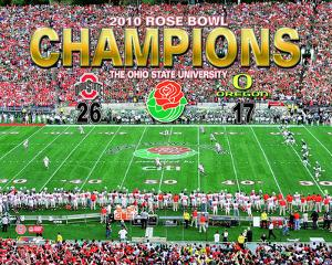 2010 Ohio St. Buckeyes Rose Bowl Champions Celebration Overlay
