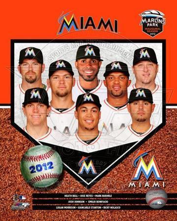 2012 Miami Marlins Team Composite