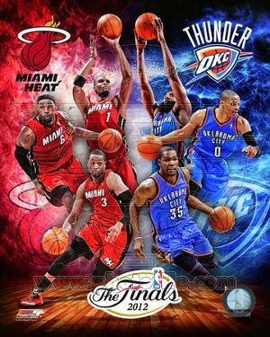 2012 NBA Finals Match-up Composite Oklahoma City Thunder Vs. Miami Heat