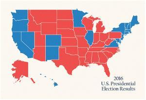2016 US Presidential Electoral College Map