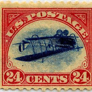 24-cent Curtis Jenny Invert Stamp