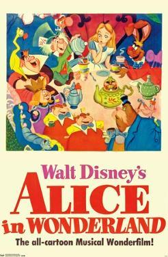 24X36 Disney Alice in Wonderland - One Sheet