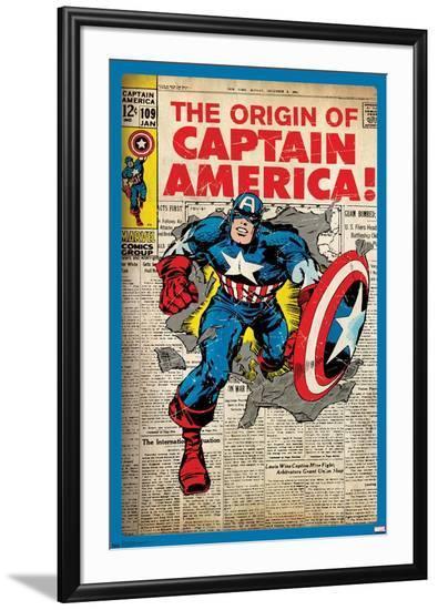 24X36 Marvel Comics - Captain America - The Original--Framed Poster