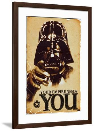 24X36 Star Wars: Saga - Empire--Framed Poster