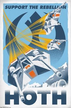 24X36 Star Wars: The Empire Strikes Back - Hoth
