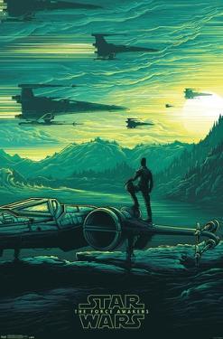 24X36 Star Wars: The Last Jedi - Jakku Sunrise