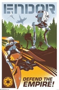 24X36 Star Wars: The Return of the Jedi - Endor