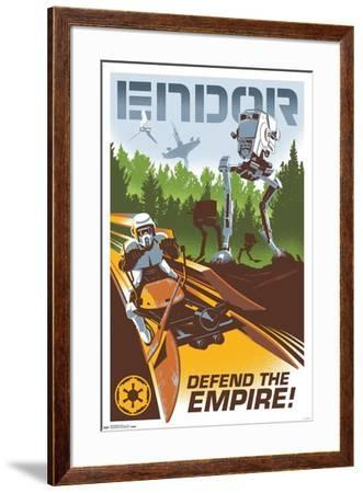 24X36 Star Wars: The Return of the Jedi - Endor--Framed Poster