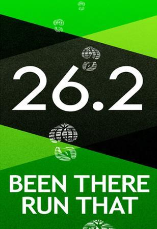 26.2 Been There Run That Marathon Sports Poster