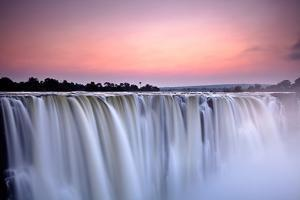 Victoria Falls at Dusk from Zimbabwe by 2630ben